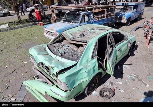 خرابی های انفجار بمب در چابهار (عکس)