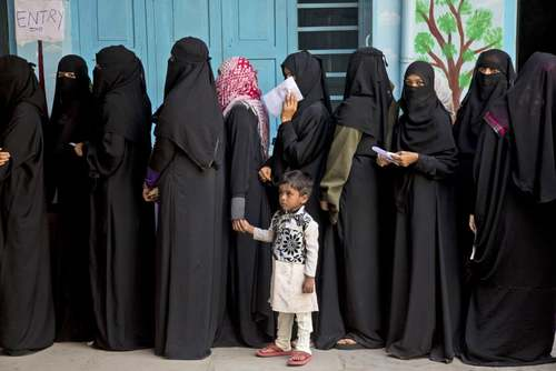 انتخابات محلی در حیدرآباد هند/ آسوشیتدپرس