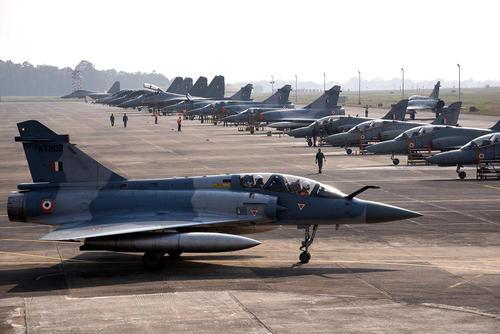 رزمایش مشترک نیروی هوایی هندوستان و ایالات متحده آمریکا در بنگال غربی هند