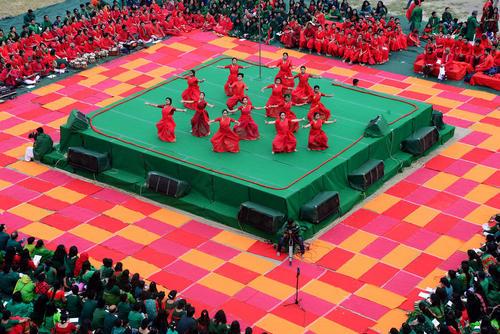 برگزاری جشن چهل وهشتمین سالگرد پیروزی بنگلادش بر پاکستان در جنگ استقلال در دانشگاه شهر داکا بنگلادش