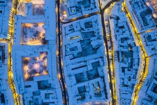 بارش برف در شهر بوداپست مجارستان / آسوشیتدپرس