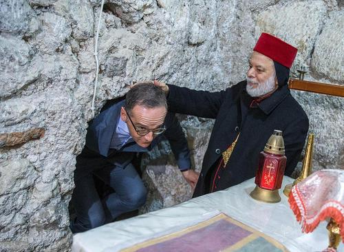 بازدید وزیر امور خارجه آلمان از صومعهای در نزدیکی شهر موصل عراق/ خبرگزاری آلمان