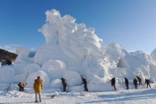جشنواره سازههای برفی و یخی در شمال چین/ خبرگزاری فرانسه