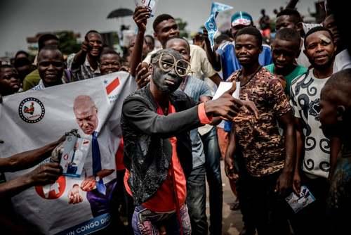 گردهمایی هواداران نامزد اپوزیسیون انتخابات ریاست جمهوری جمهوری دموکراتیک کنگو در شهر