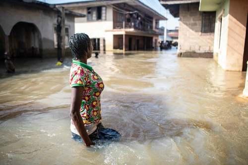 سیل در نیجریه/ خبرگزاری فرانسه