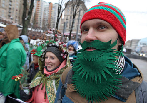 جشن کریسمس در شهر کییف اوکراین