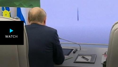 نظارت پوتین بر آزمایش موشکی جدید روسیه/ عکسها: آسوشیتدپرس