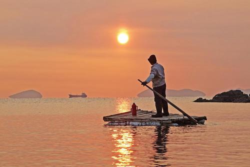 نخستین طلوع آفتاب سال جدید میلادی در دالیان چین
