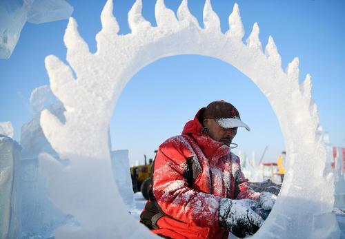 جشنواره سازههای برفی و یخی در هاربین چین/ شینهوا