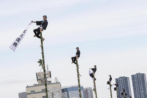 نمایش سالانه آتشنشانان شهر توکیو