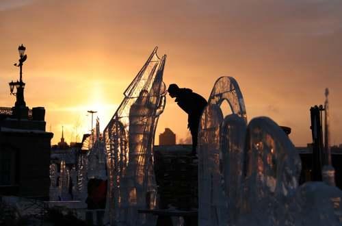 جشنواره سازههای یخی در روسیه/ ایتارتاس
