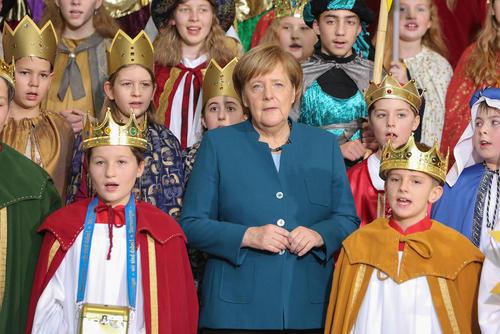 یک گروه سرود کلیسا به مناسبت