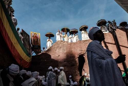 جشن میلااد مسیح در بین مسیحیان ارتدوکس اتیوپی/ خبرگزاری فرانسه