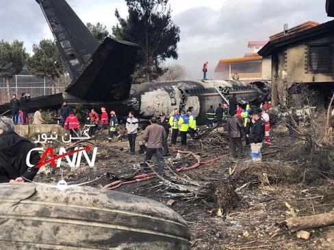 سقوط هواپیمای باری در کرج