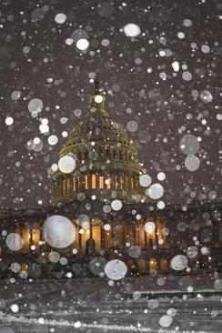 بارش برف در واشنگتن دی سی