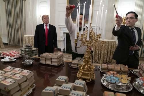 مهمانی شام ترامپ در کاخ سفید  عکسها: آسوشیتدپرس، خبرگزاری فرانسه، گتی ایمجز