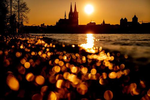 غروب آفتاب در کلن آلمان/ خبرگزاری آلمان