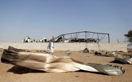 حمله هوایی ائتلاف تحت رهبری سعودی به شهر صنعا یمن/ رویترز