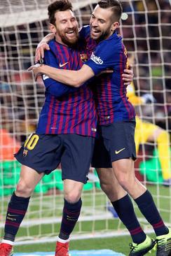 شادمانی لیونل مسی از زدن گل به تیم فوتبال