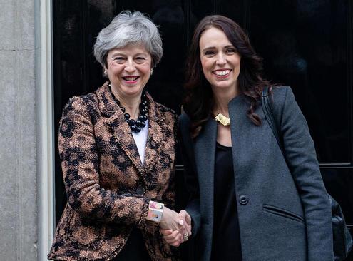 دیدار نخست وزیران بریتانیا و نیوزیلند در مقر نخست وزیری بریتانیا در لندن
