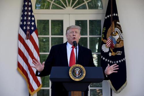 نشست خبری بعد از ظهر جمعه ترامپ در محوطه