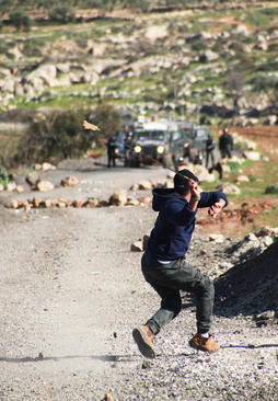 تظاهرات ضد اسراییلی جوانان فلسطینی در شهر رام الله/APA