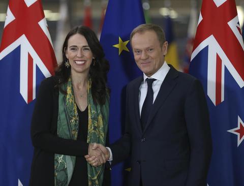 دیدار نخست وزیر نیوزیلند با رییس شورای اروپا در بروکسل/ شینهوا