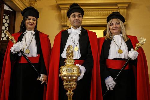 قضات دیوان عالی ایتالیا در مراسم آغاز سال قضایی در شهر رم