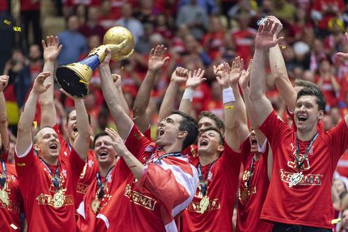 پیروزی تیم ملی هندبال دانمارک بر نروژ در فینال مسابقات جهانی هندبال/ دانمارک