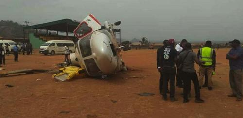 جان به در بردن معاون رییس جمهوری نیجریه از سانحه سقوط هلیکوپترش در استان