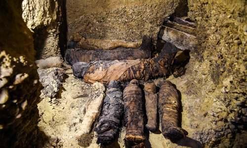 کشف چند مومیایی از مقبرهای در مصر/ خبرگزاری فرانسه