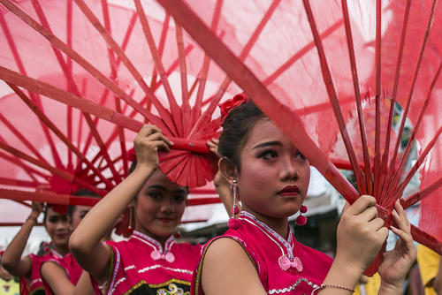 جشن سال نو چینی در بالی اندونزی
