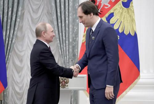 مراسم اهدای جوایز سالانه به دانشمندان روسی در کرملین/ ایتارتاس