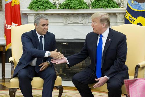 دیدار روسای جمهوری کلمبیا و ایالات متحده آمریکا در کاخ سفید/CNP