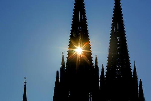 نمایی از کلیسای جامع شهر کلن آلمان/ خبرگزاری آلمان