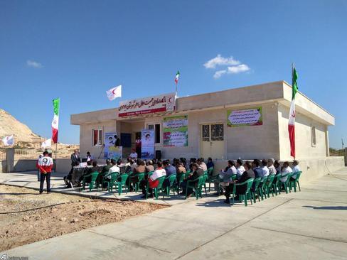 افتتاح پایگاه امداد هلال احمر در جزیره ابوموسی