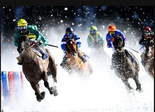 مسابقات اسب سواری در سنت موریس سوییس/ گتی ایمجز