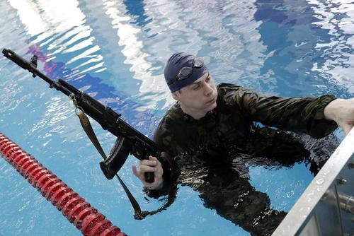 تمرین نیروهای ویژه پلیس روسیه / مسکو / ایتارتاس