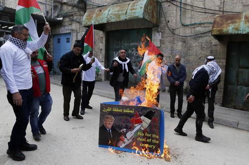 تظاهرات فلسطینیها علیه