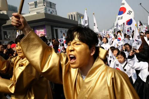 تظاهرات برای گرامیداشت صدمین سالگرد قیام مردم کره علیه استعمار ژاپن/ سئول/ گتی ایمجز
