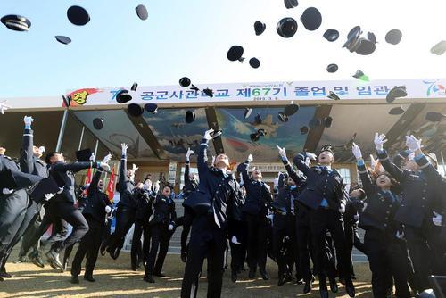 جشن فارغالتحصیلی افسران دانشکده نیروی هوایی ارتش کره جنوبی/ یونهاپ
