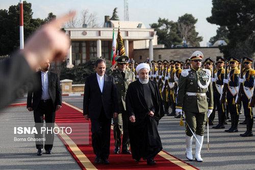 تصاویر سفر روحانی به عراق