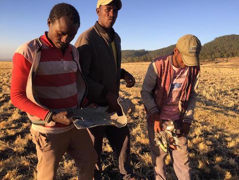 ساکنان محلی در حال جمعآوری قطعات هواپیمای مسافربری (بویینگ 737) خطوط هواپیمایی اتیوپی که روز یکشنبه در منطقهای در اتیوپی سقوط کرد و همه مسافران و خدمه آن کشته شدند./ شینهوا