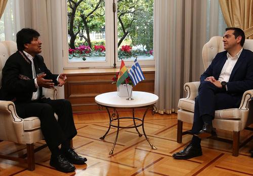 دیدار نخست وزیر یونان و رییس جمهوری بولیوی در آتن/ شینهوا
