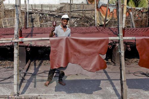 کارگاه تولید چرم در شهر