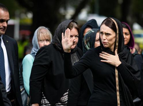 حضور نخست وزیر نیوزیلند در مراسم نماز جمعه جامعه مسلمانان