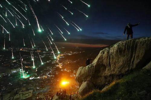 برگزاری جشن نوروز در کوهستانهای منطقه اقلیم کردستان عراق/ گتی ایمجز