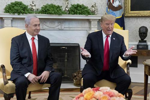 دیدار نتانیاهو و ترامپ در کاخ سفید/ CNP