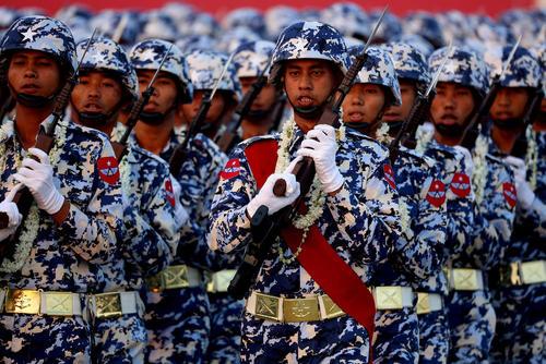 رژه روز ارتش در میانمار/ شینهوا