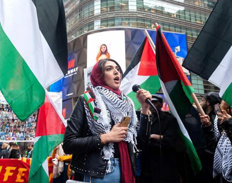 تظاهرات در همبستگی با فلسطینیها در نخستین سالگرد آغاز اعتراضات سراسری